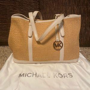 Michael Kors Straw Tote